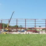 Field View of Airport Hangar Construction by M-3 Enterprises