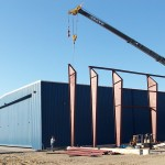 Outdoor View of Airport Hangar Construction by M-3 Enterprises